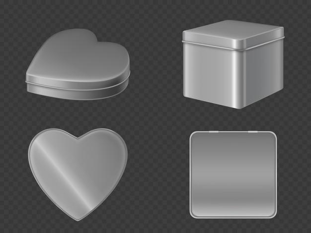Boîtes en métal pour bonbons