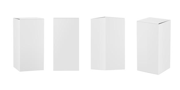 Boîtes en papier rectangulaires