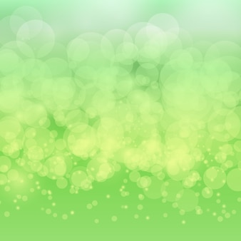 Bokeh abstrait flou sur fond vert