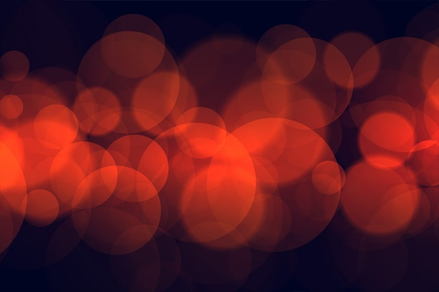 Bokeh circulaire lumineux allume un beau design