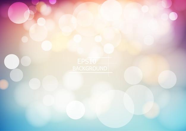 Bokeh coloré abstrait flou fond