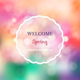 Bokeh colorful spring background