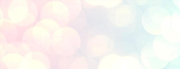 Le bokeh de couleur pastel allume un design élégant de bannière
