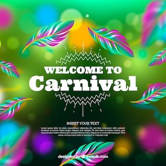 Bokeh fond de carnaval