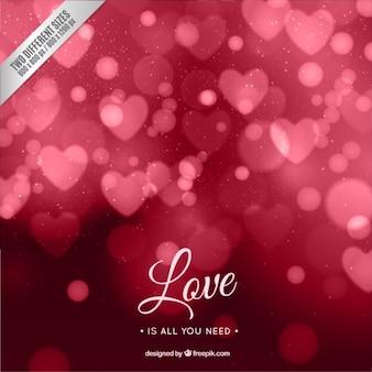 Bokeh fond rouge valentine