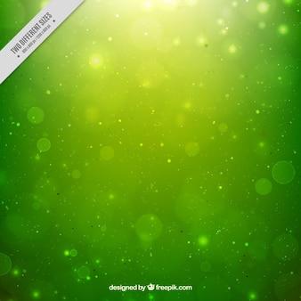 Bokeh fond vert défocalisé