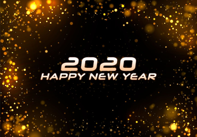 Bokeh scintillent fond de noël 2020.