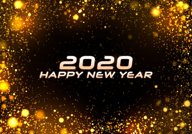 Bokeh sparkle fond de noël 2020, lumières du nouvel an.