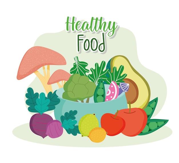 Bol d'aliments sains