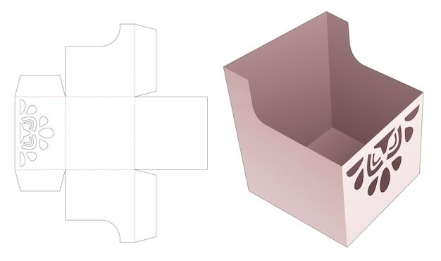 Bol à collation en carton avec gabarit de découpe mandala au pochoir