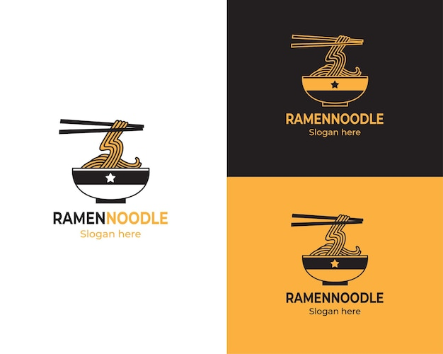 Un bol de logo de nouilles ramen