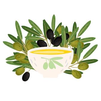 Bol avec olive fraîche