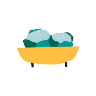 Bol avec vecteur de nourriture saine bio verts