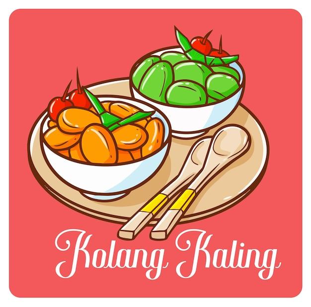 Bols délicieux de kolang kaling, un dessert du ramadan d'indonésie