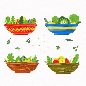 Bols à fruits et salade
