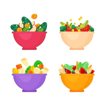 Bols à fruits et à salade