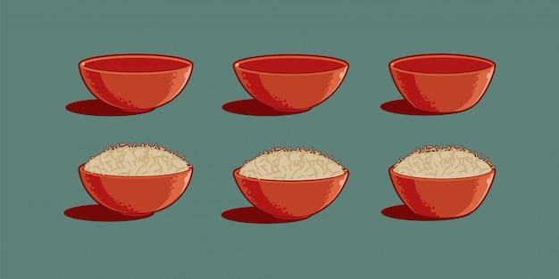 Bols à riz de style asiatique.