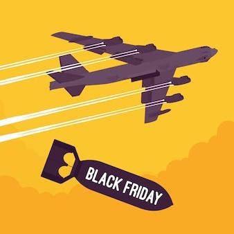 Bombardement et bombardement du black friday