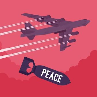 Bombardement et bombardement de la paix