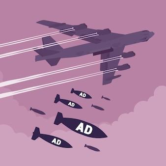 Bombardier et bombardement publicitaire