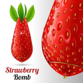 Bombe aux fraises