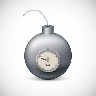 Bombe avec horloge.
