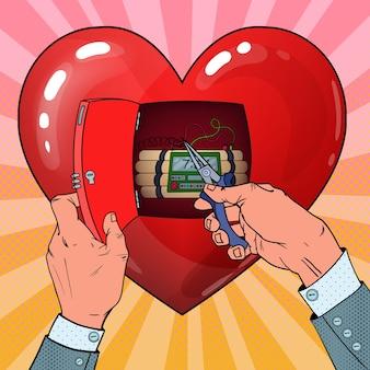 Bombe à retardement en forme de coeur