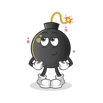 Bombe timide. personnage de dessin animé