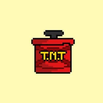Bombe tnt avec style pixel art