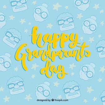 Bon anniversaire des grands-parents avec motif