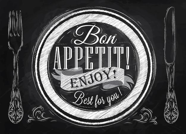 Bon appétit craie