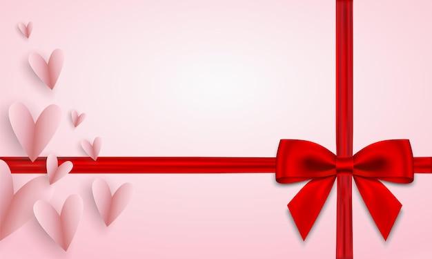 Bon cadeau élégant sur fond rose