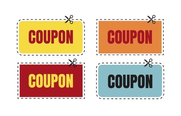 Bon-cadeau Isolé De Remise De Coupon De Vecteur Pour L'ensemble Des Affaires De Coupons Promotionnels Vecteur Premium