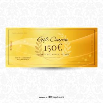 Bon cadeau d'or