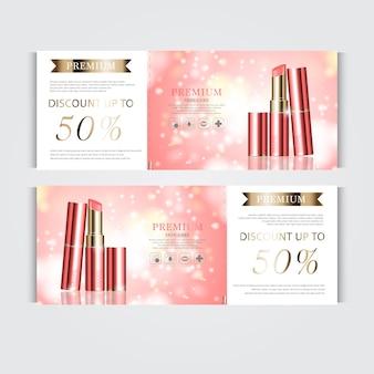 Bon cadeau rouge à lèvres hydratant pour le visage pour vente annuelle ou vente festival rouge à lèvres argent et or