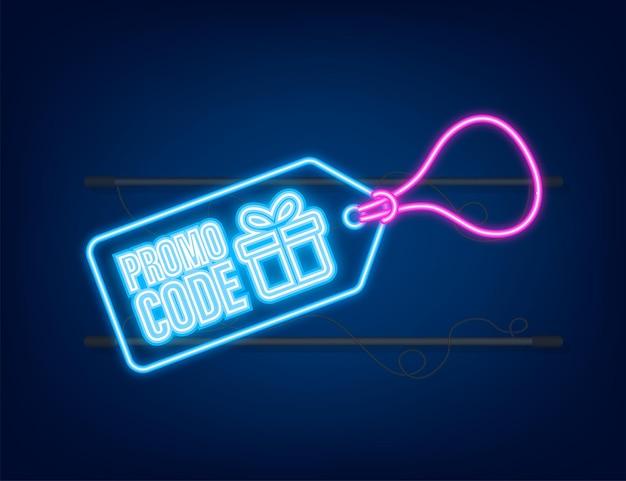 Bon-cadeau de vecteur de code promotionnel avec fond de carte-cadeau premium de code de coupon pour le commerce électronique