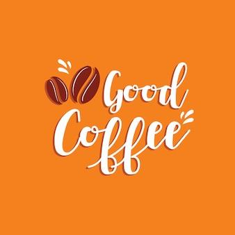 Bon café, style typographique