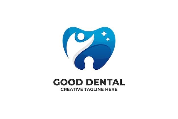 Bon logo de dégradé de dentiste dentaire