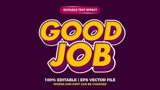 Bon travail effet de texte vintage pop art rétro audacieux fort pour le style ancien