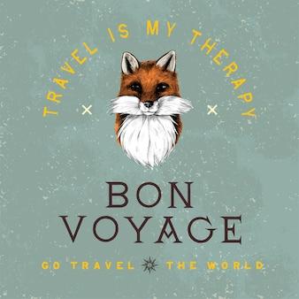 Bon voyage logo design vectoriel