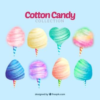 Bonbon de coton coloré