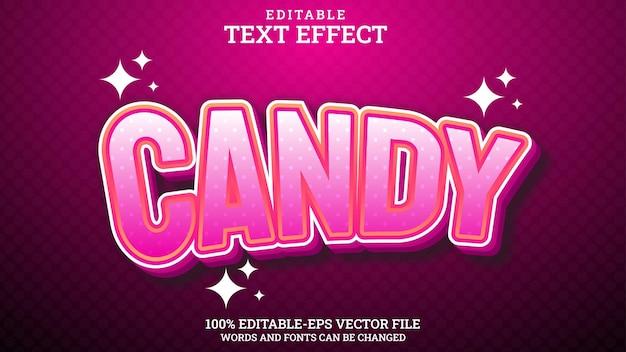 Bonbon modifiable effet de texte