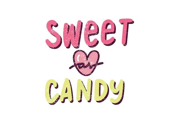 Bonbon sucré avec coeur