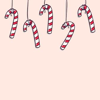 Bonbons accrochés à une corde