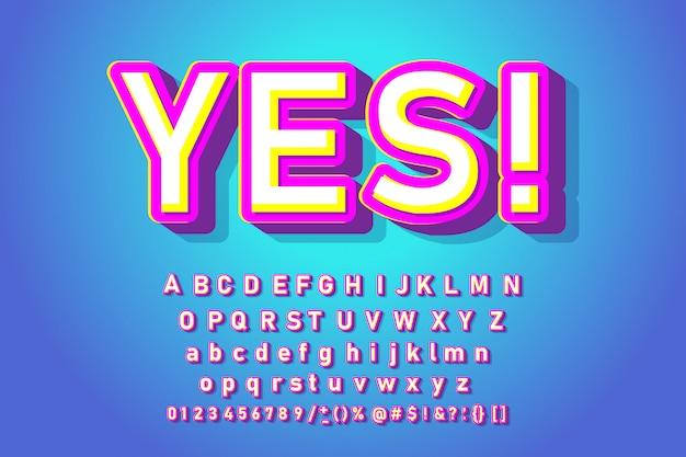 Bonbons alphabet tendance. police cool