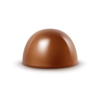 Bonbons au chocolat au lait réaliste isolé sur fond blanc