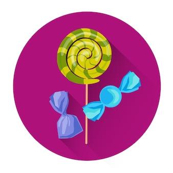 Bonbons bonbons sucette halloween icône de vacances