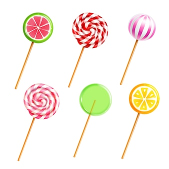 Bonbons lollipops bonbons set