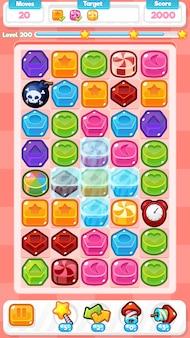 Bonbons match trois jeu