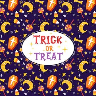 Des bonbons ou un sort carte de voeux halloween